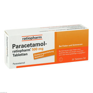 Paracetamol-ratiopharm 500mg Tabletten